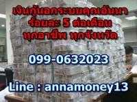 ปล่อยเงินกู้นอกระบบ ด่วน ร้อยละ 5 ต่อเดือนเท่านั้น  ติดต่อคุณริสา 0988719700